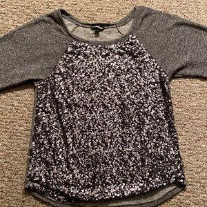 Express Womens Sequence Sweatshirt Top
